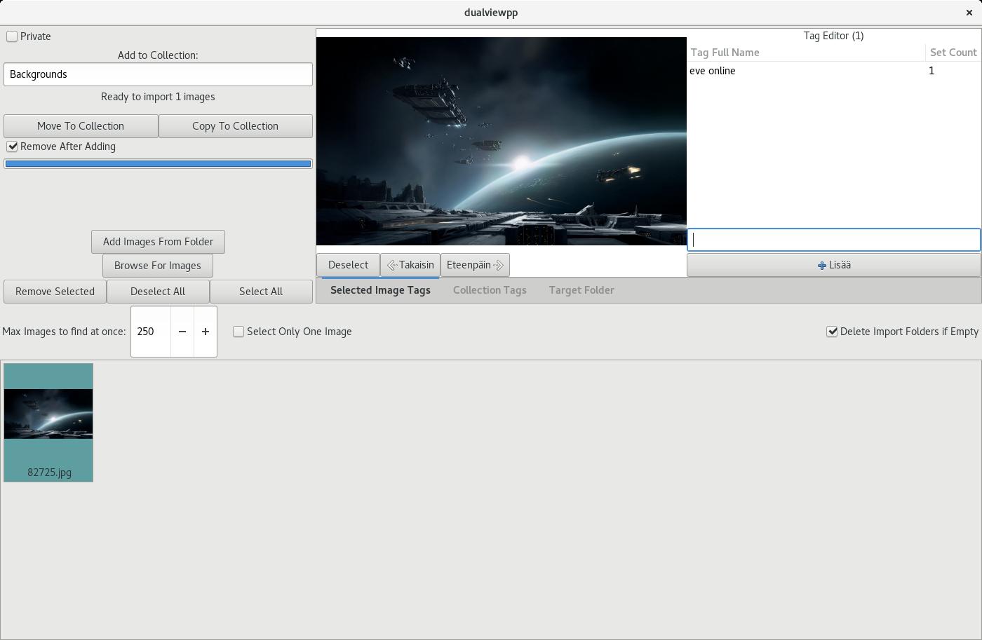DualView++ importer screenshot